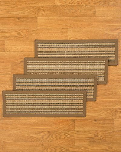 NaturalAreaRugs Galena Carpet Stair Treads Rug (Set of 13), 9-inch x 29-inch