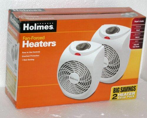 Holmes HFHVP3 1200 watt Compact Heater Fan 2-Pack
