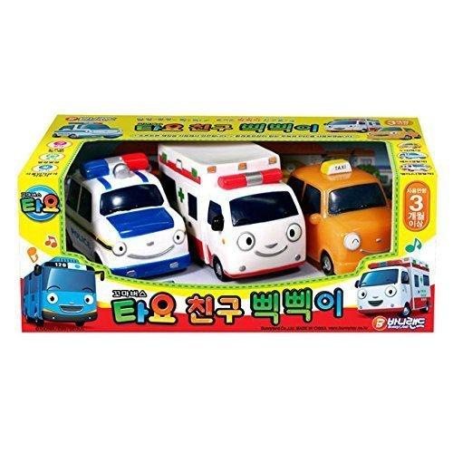 Little Bus Tayo Toy - Freinds Pik Pik 3 Pcs :Korean Made TV Animation Toy