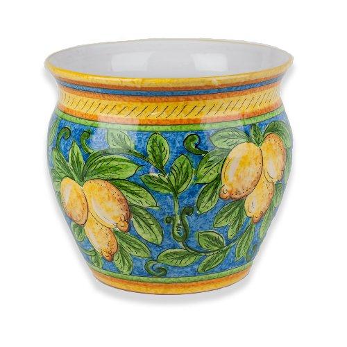 Handmade Limone Small Cachepot (Italian Ceramics Cachepot compare prices)