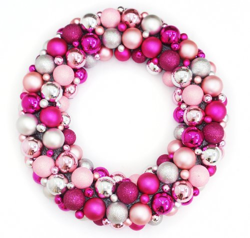 Pink Christmas Wreath Ideas
