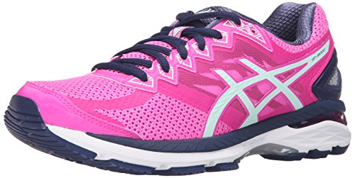 ASICS Women's Gt-2000 4 Running Shoe, Pink Glow/Soothing Sea/Indigo Blue, 8 M US