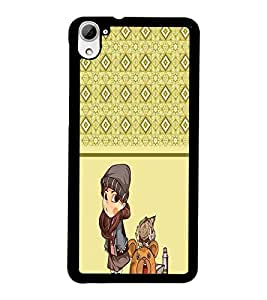 PrintDhaba Pattern D-4314 Back Case Cover for HTC DESIRE 826 (Multi-Coloured)