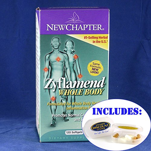 Combo Zyflamend By New Chapter - 120 Softgels Plus Vdc Pill Box