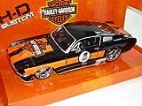 Ford Mustang GT 1967 Coupe Schwarz Harley Davidson Edition 1/24 Maisto Modellauto Modell Auto