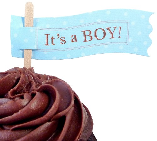 Bella Cupcake Couture 6-Pack It'S A Boy Cupcake Flag Picks front-438823