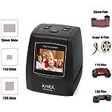 Jumbl 22MP All-In-1 Film & Slide Scanner w/ Speed-Load Adapters for 35mm Negative & Slides, 110, 126, & Super 8 Films