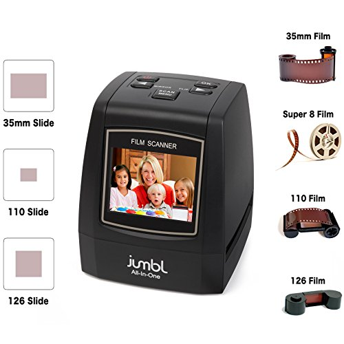 Jumbl-22MP-All-In-1-Film-Slide-Scanner-w-Speed-Load-Adapters-for-35mm-Negative-Slides-110-126-Super-8-Films
