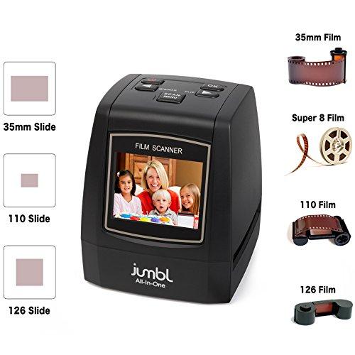 Jumbl-22MP-All-In-1-Film-Slide-Scanner-w-Speed-Load-Adapters-for-35mm-Negative-Slides-110-126-Super-8-Films