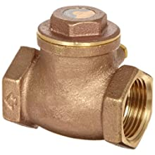 "Dixon SWCV100 Brass Horizontal Swing Check Valve, 1"" NPT Female"