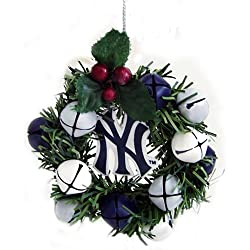MLB New York Yankees 3-Inch Wreath and Bells Ornament