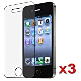 3 Pack iPhone 4 / 4S Anti-Glare, Anti-Scratch, Anti-Fingerprint - Matte Finishing Screen Protector