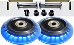 Luggage Lighted Wheel Set - Blue Color by Camelian