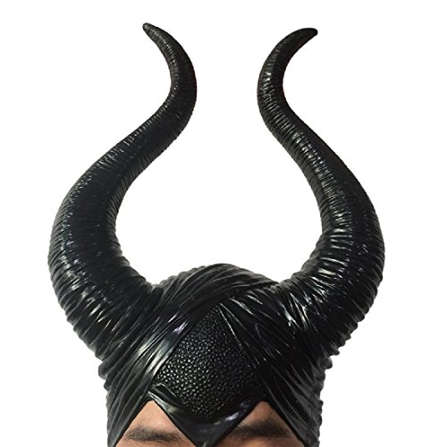 New Halloween Costumes Black Horns Maleficent Movie Deluxe Horns Mask