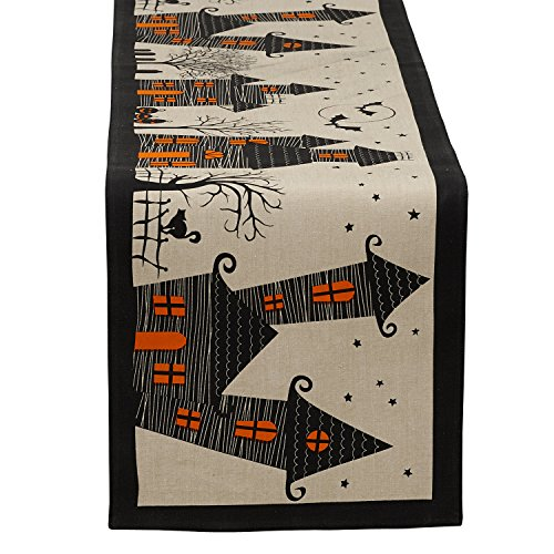 Haunted House Table Runner 14 x 72
