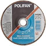 PFERD Polifan SG Abrasive Flap Disc, Type 27, Round Hole, Phenolic Resin Backing, Aluminum Oxide