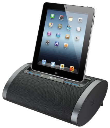 Ihome Idl48Bc Dual Charging Portable Rechargeable Speaker With Lightning Dock And Usb Charge/Play For Ipad/Iphone/Ipod, Black