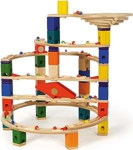 Hape Quadrilla Twist and Rail Set - 98 Piece, 50 Marble