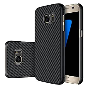 Samsung Galaxy S7 Edge Case/Cover - Black Carbon Fiber Texture Includes Gift Card Worth Rs.200