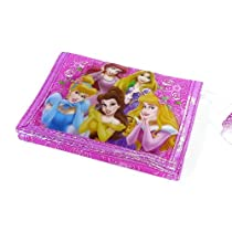 Disney Princess Pink Wallet Tangled Cinderella The Little Mermaid Belle