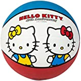 Hello Kitty Sports 40th Anniversary Basketball, 27.5-Inch, Red/Blue/White, 27.5-Inch/Red/Blue/White