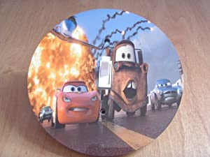 Disney Pixar CARS 2 Light switch Cover 5 Inch Round (12.5 cms) Switch plate Switchplate by Character Creations