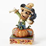 Jim Shore for Enesco Disney Traditions by Harvest Mickey Figurine, 6.5-Inch