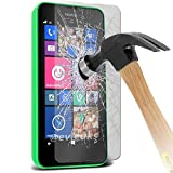 100% Genuine Premium Quality Original Tempered-Glass Screen Protector for Nokia Lumia N630,N635 (0.33mm) Ultra Thin Lightweight Rounded Edge Hardness up to 9H (harder than a knife) - Includes Microfiber Cleaning Cloth