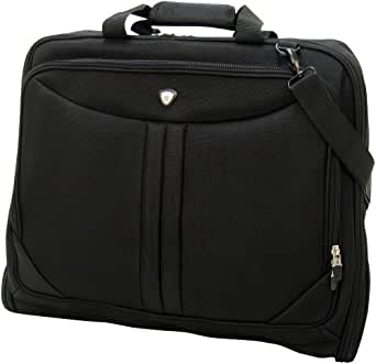 Olympia Luggage Deluxe Garment Bag, Black, One