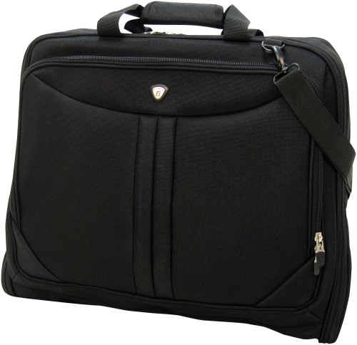 Olympia Luggage Deluxe Garment Bag, Black, One Size (Shoulder Garment Bag compare prices)