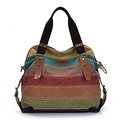 Aibag Retro Canvas Hobo Top Handle Cross Body Bag Tote Handbags w/ Shoulder Strap