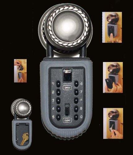 SECURE KEY LOCK DOOR KNOB HANGING PADLOCK KEY SAFE USER SELECTABLE CODE