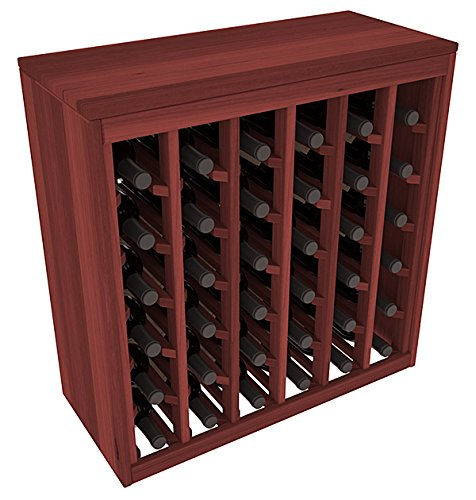 Wine Racks America Redwood 36 Bottle Deluxe. 13 Stains to Choose From! (Fancy Wine Cabinet compare prices)