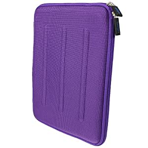 iGadgitz Purple EVA Travel Hard Case Cover Sleeve for Apple iPad 2, 3, 4 With Retina, Air 2013 & New iPad Air 2