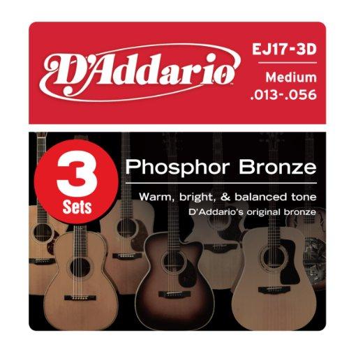 D'Addario EJ17-3D Phosphor Bronze Acoustic Guitar
