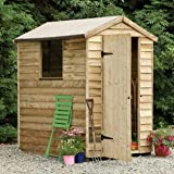 6 x 4 Shed Republic Essential Overlap Pressure Treated Apex Shed