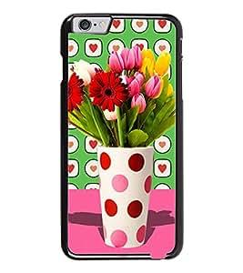 PrintDhaba Flower Vass D-2795 Back Case Cover for APPLE IPHONE 6 (Multi-Coloured)