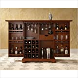 Crosley Furniture Alexandria Expandable Bar Cabinet in Classic Cherry Finis ....