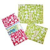 SnackTaxi Reusable Sandwich-sack Bag, Snack-sack Bag and Twice-as-nice Napkin Tiny Veggies Set.