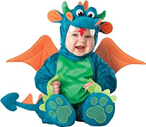 InCharacter Unisex-baby Newborn Dragon Costume, Teal/Green, Small (6 - 12 Months)