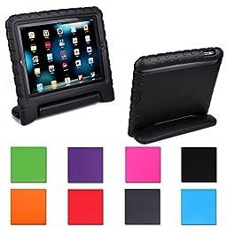 iPad Mini Case,iPad Mini 2/ 3 Case,Agrigle Kids Shock Proof Convertible Handle Light Weight Super Protective Stand Cover Case for Apple iPad Mini /Mini 2/Mini 3 (Black)