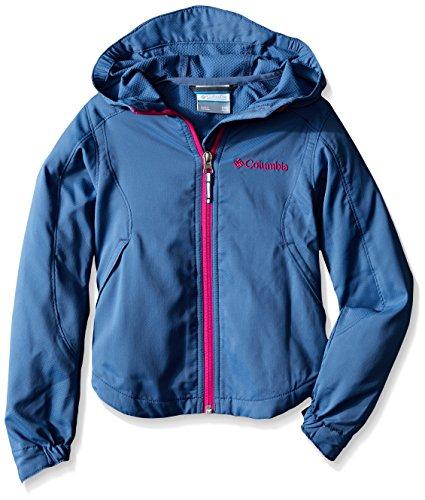 Columbia Big Girls Splash Flash II Hooded Softshell Jacket, Bluebell, Small