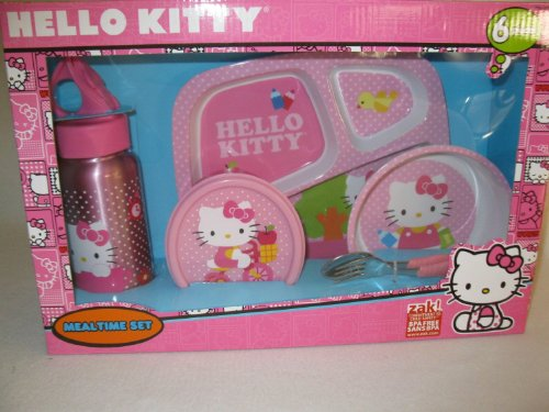 Hello Kitty Mealtime Set - 6 Pieces - 1