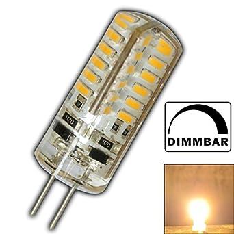 G4 LED 3 Watt Warmweiß 12V DC mit 48x 3014 SMDs (Epistar) 220 Lumen ~ 15W 360° Stiftsockel Leuchtmittel Lampensockel Spot Halogenersatz Halogen Lampe