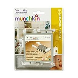 Munchkin, XtraGuard Dual Locking Drawer Latch, 2 Pack (Pack of 2)