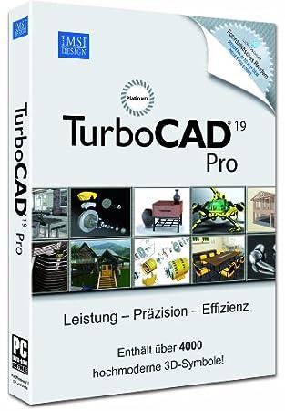 TurboCAD V 19 Pro Platinum incl. 3D Symbole