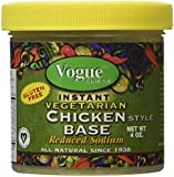 Vogue Cuisine Vegetarian Chicken Soup & Seasoning Base 4oz - Low Sodium & Gluten Free