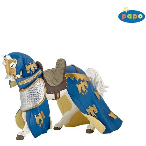 DRAPED HORSE BLUE Papo Knights PAPO