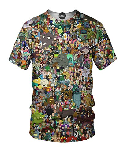 On Cue Apparel Futurama Collage T-Shirt