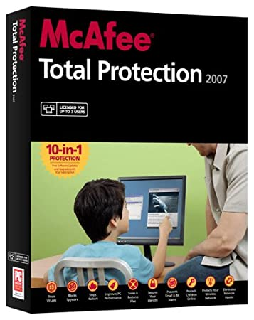 McAfee Total Protection 2007 - 3 Users